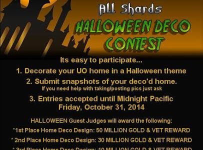 Congratulations to the winners of the Halloween Contest. As always it was very hard to chose the winners as many people had unique and creative entries.  But we did finally […]